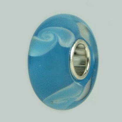 Atelier Texel. Glasperlen GB 04 Glasperlen mit Sterling Silber Kern.