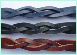 Atelier Texel- Flecht - 3 Farben - schwarz - blau - braun