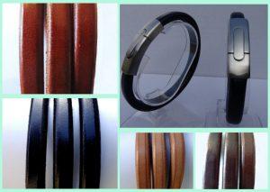 Stoere robuuste leren armbanden van Atelier Texel
